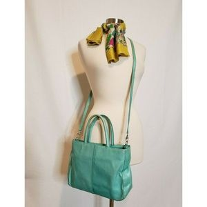 Hobo The Original Leather Purse Turquoise Bag